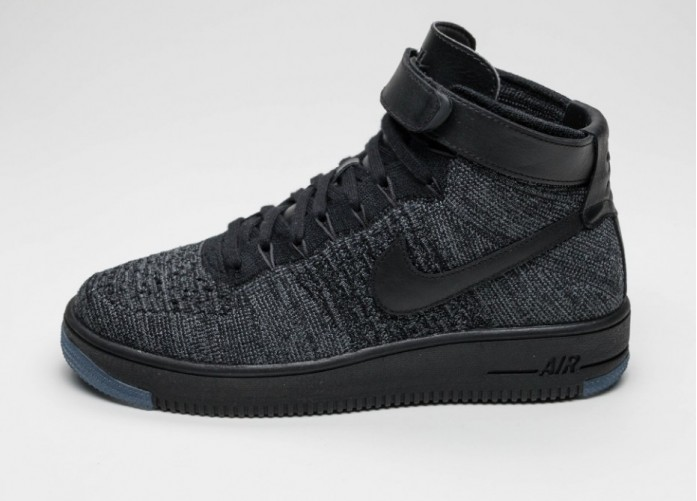 Мужские кроссовки Nike Air Force 1 Ultra Flyknit Mid (Dark Grey / Black) | Интернет-магазин Sole