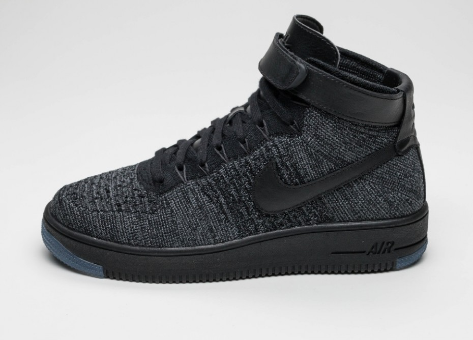 bb735095b1df6b Мужские кроссовки Nike Air Force 1 Ultra Flyknit Mid (Dark Grey / Black)