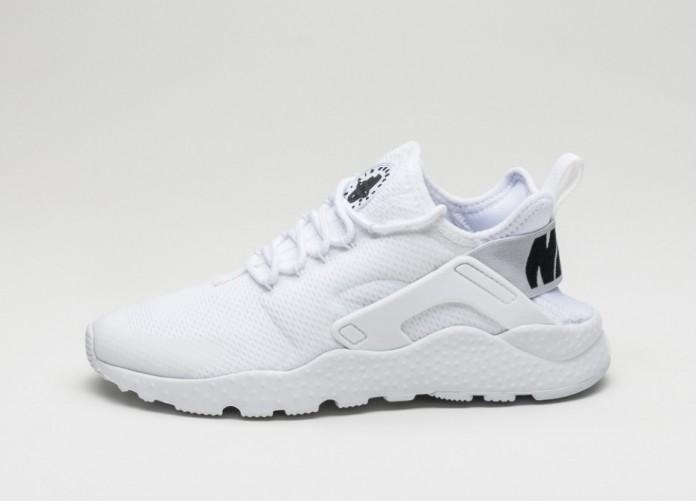 Мужские кроссовки Nike Wmns Air Huarache Run Ultra (White / White - Black) | Интернет-магазин Sole