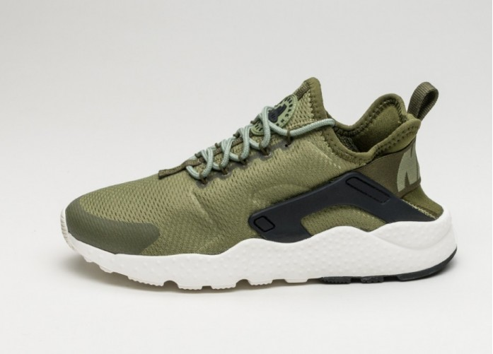 Женские кроссовки Nike Wmns Air Huarache Run Ultra (Palm Green / Legion Green - Black - Sail) | Интернет-магазин Sole