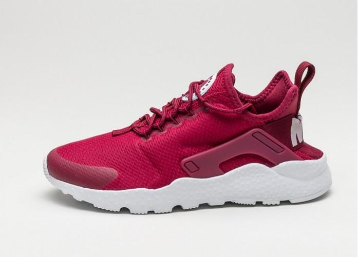 Мужские кроссовки Nike Wmns Air Huarache Run Ultra (Noble Red / White) | Интернет-магазин Sole