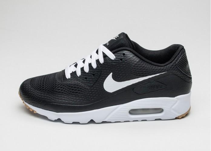 Мужские кроссовки Nike Air Max 90 Ultra Essential (Black / White - Black) | Интернет-магазин Sole
