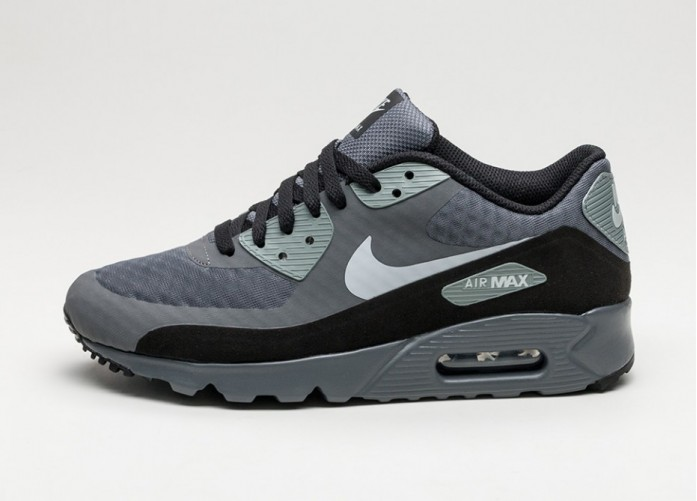 Мужские кроссовки Nike Air Max 90 Ultra Essential (Dark Grey / Wolf Grey - Cool Grey - Black) | Интернет-магазин Sole