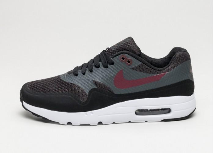 Мужские кроссовки Nike Air Max 1 Ultra Essential (Black / Night Maroon - Anthracite - White) | Интернет-магазин Sole