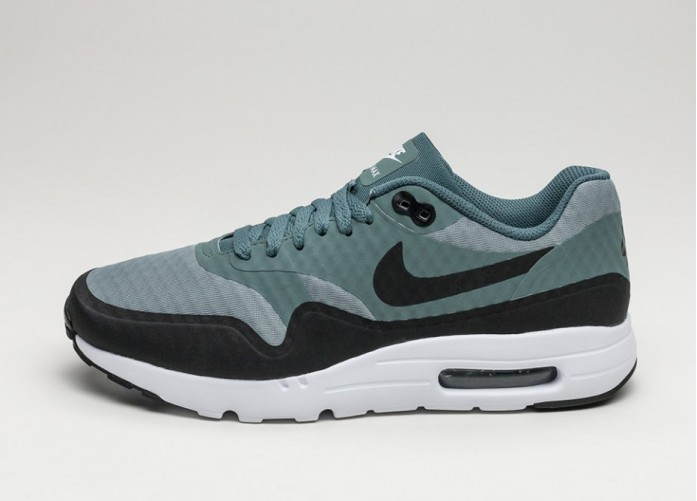 Мужские кроссовки Nike Air Max 1 Ultra Essential (Shark / Black - Hasta - White) | Интернет-магазин Sole