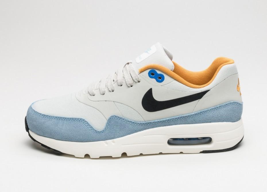 separation shoes dd3be d6cdd Мужские кроссовки Nike Air Max 1 Ultra Essential (Light Bone   Black -  Bluecap -