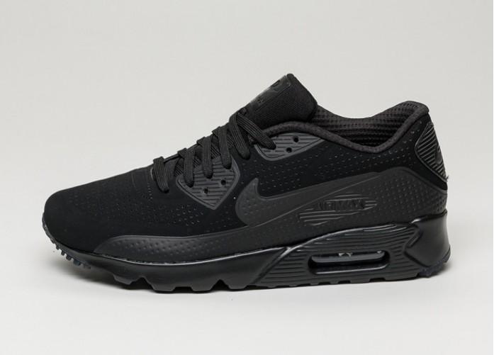 Мужские кроссовки Nike Air Max 90 Ultra Moire (Black / Black - White) | Интернет-магазин Sole