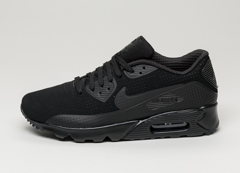 Мужские кроссовки Nike Air Max 90 Ultra Moire (Black Black White)
