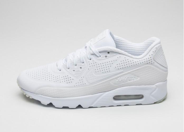 Мужские кроссовки Nike Air Max 90 Ultra Moire (White / White) | Интернет-магазин Sole