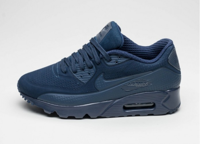Мужские кроссовки Nike Air Max 90 Ultra Moire (Midnight Navy / Midnight Navy - White) | Интернет-магазин Sole