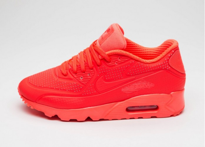 Мужские кроссовки Nike Air Max 90 Ultra Moire (Bright Crimson / Bright Crimson - White) | Интернет-магазин Sole