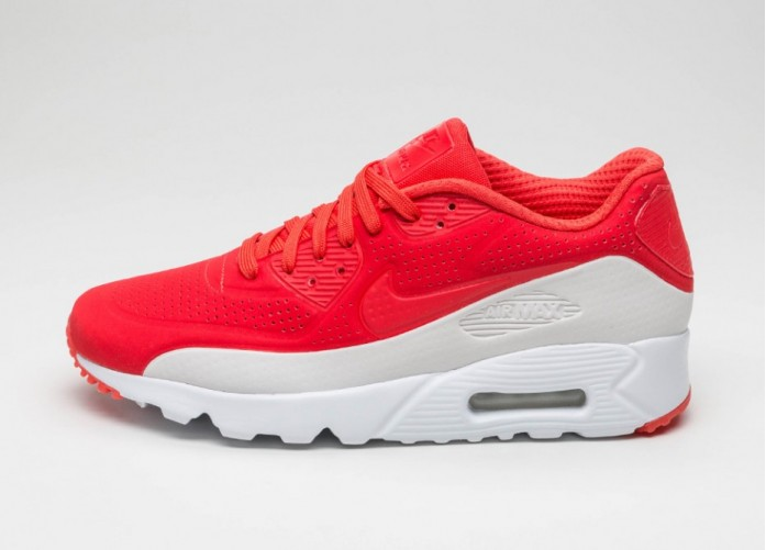 Мужские кроссовки Nike Air Max 90 Ultra Moire (Light Crimson / Light Crimson - White) | Интернет-магазин Sole
