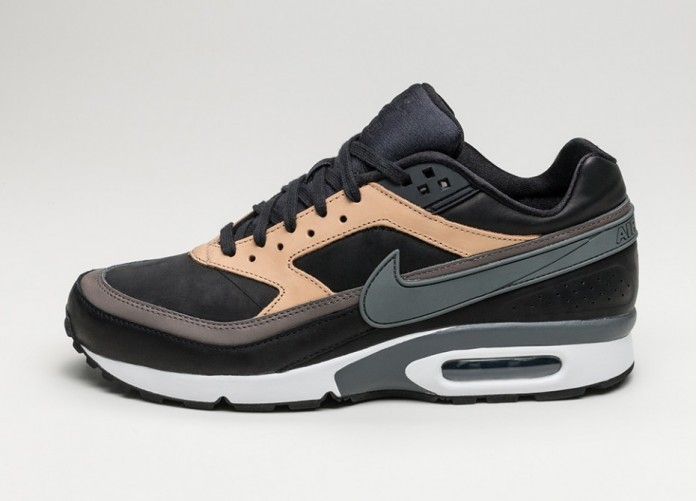 Мужские кроссовки Nike Air Max BW Premium (Black / Dark Grey - Vachetta Tan - White) | Интернет-магазин Sole