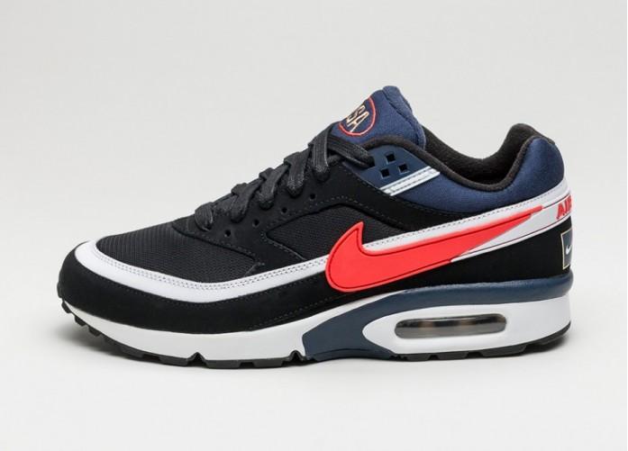 Мужские кроссовки Nike Air Max BW Premium *Olympic* (Black / Crimson - Midnight Navy) | Интернет-магазин Sole