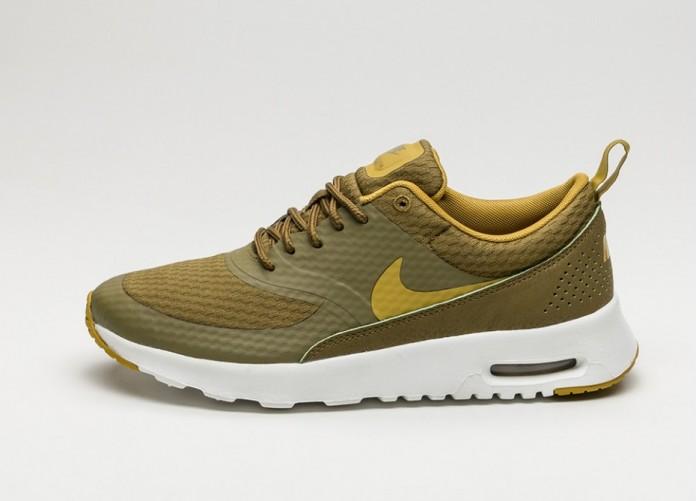 Мужские кроссовки Nike Wmns Air Max Thea Txt (Olive Flak / Peat Moss - Summit White) | Интернет-магазин Sole