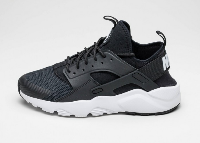 Мужские кроссовки Nike Air Huarache Run Ultra (Black / White - Anthracite - White) | Интернет-магазин Sole