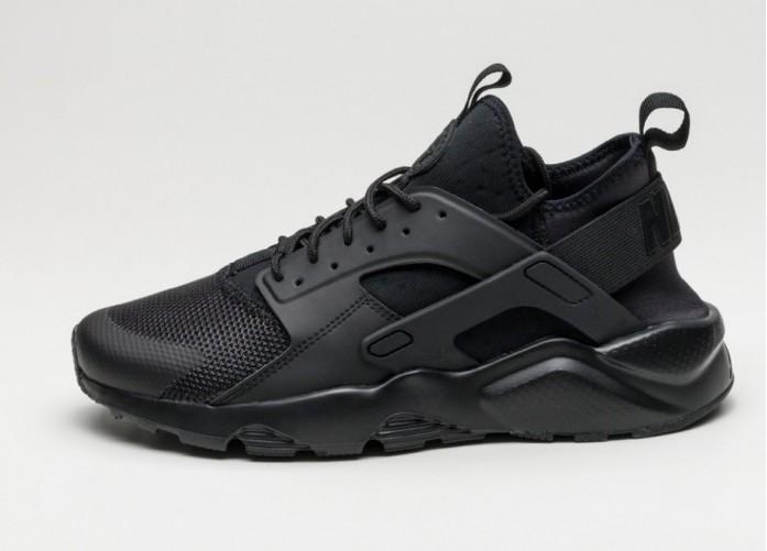 Мужские кроссовки Nike Air Huarache Run Ultra (Black / Black - Black)   Интернет-магазин Sole