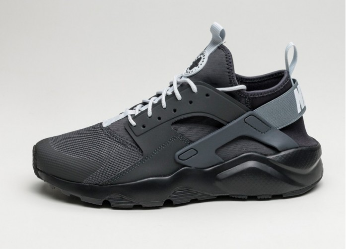 Мужские кроссовки Nike Air Huarache Run Ultra (Anthracite / Black - Black - White) | Интернет-магазин Sole