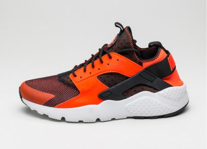Мужские кроссовки Nike Air Huarache Run Ultra (Black / Total Crimson - White) | Интернет-магазин Sole