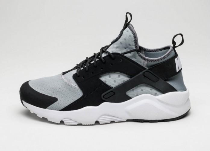 Мужские кроссовки Nike Air Huarache Run Ultra (Wolf Grey / White - Black - Cool Grey) | Интернет-магазин Sole