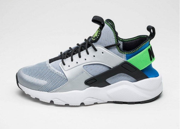 Мужские кроссовки Nike Air Huarache Run Ultra (Royal Blue / Black - Scream Green - Pure Platinum) | Интернет-магазин Sole