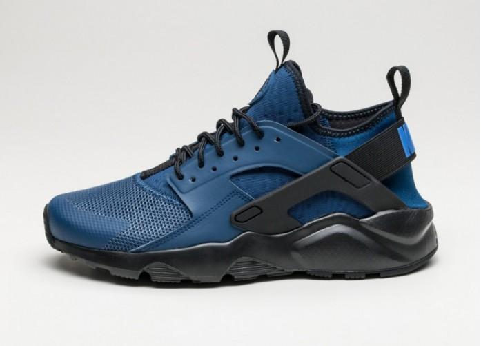 Мужские кроссовки Nike Air Huarache Run Ultra (Coastal Blue / Dark Obsidian - Dark Obsidian) | Интернет-магазин Sole