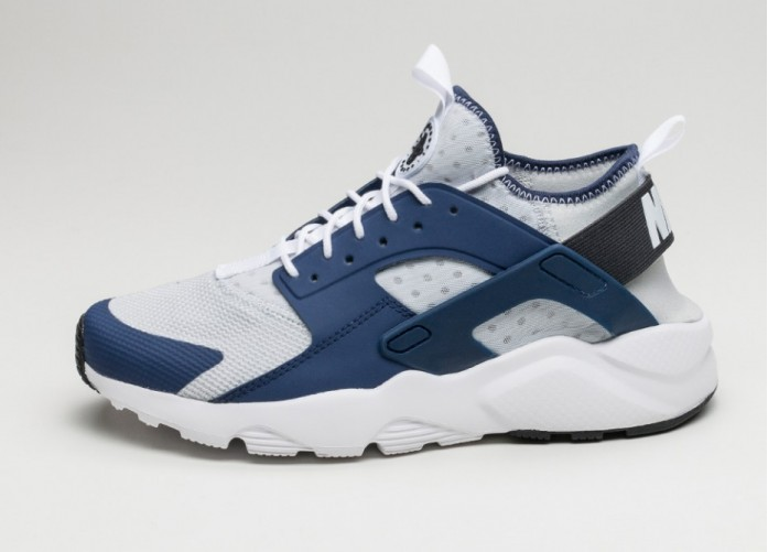 Мужские кроссовки Nike Air Huarache Run Ultra (Binary Blue / Black - Pure Platinum) | Интернет-магазин Sole