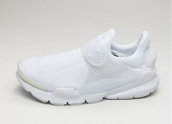 Мужские кроссовки Nike Sock Dart (White / White - White - Black) | Интернет-магазин Sole