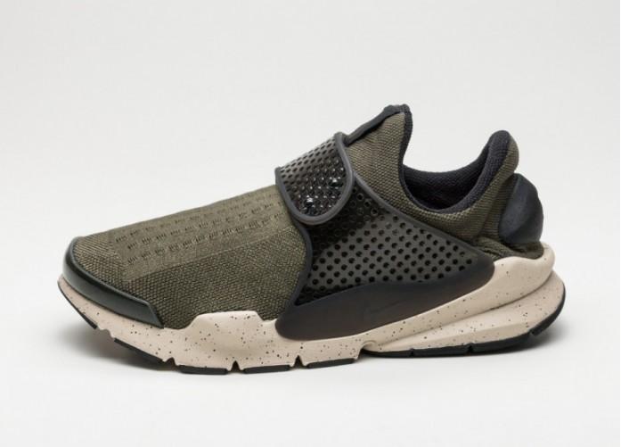 Мужские кроссовки Nike Sock Dart KJCRD (Cargo Khaki / Black - Rattan - Total Crimson) | Интернет-магазин Sole