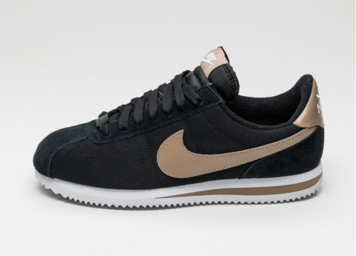 Мужские кроссовки Nike Classic Cortez Basic Premium QS (Black / Desert Camo - White) | Интернет-магазин Sole