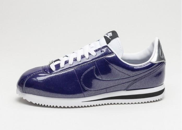 Мужские кроссовки Nike Classic Cortez Basic Premium QS (Ink / Ink - White - Metallic Silver) | Интернет-магазин Sole