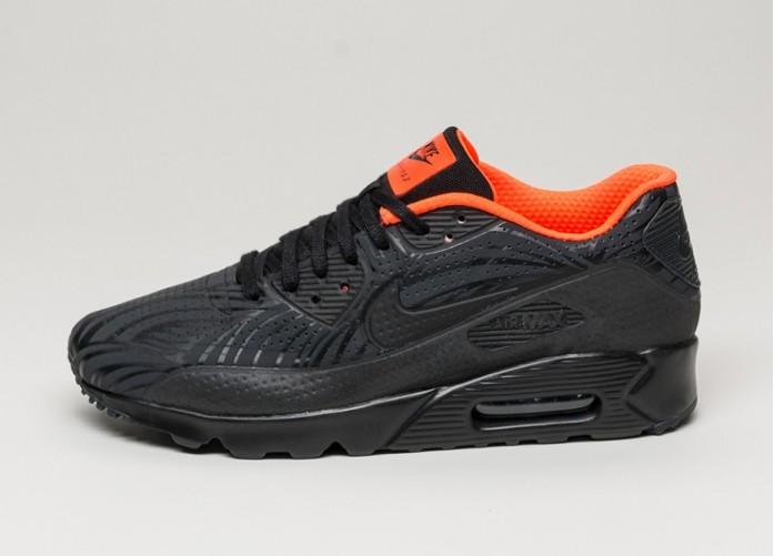 Мужские кроссовки Nike Air Max 90 Ultra Moire FB (Black / Black - Anthracite - Total Crimson) | Интернет-магазин Sole