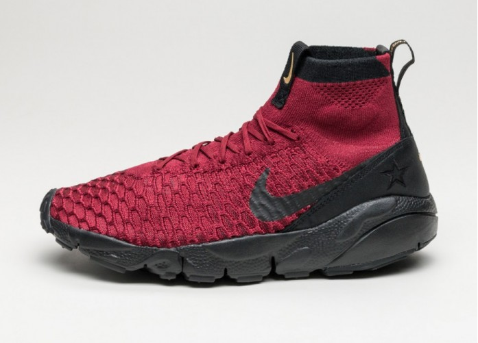 Мужские кроссовки Nike Air Footscape Magista Flyknit FC (Team Red / Black - Team Red - Metallic Gold) | Интернет-магазин Sole