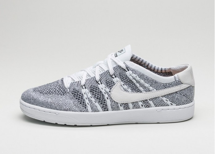 Мужские кроссовки Nike Tennis Classic Ultra Flyknit (White / White - Black) | Интернет-магазин Sole
