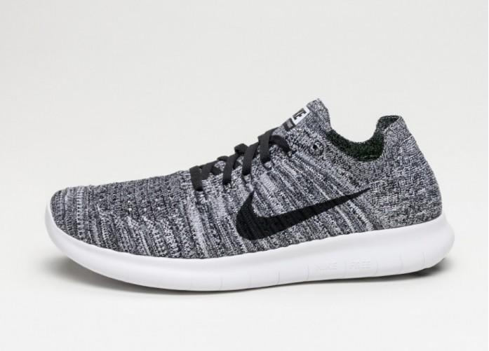 Мужские кроссовки Nike Free RN Flyknit (White / Black) | Интернет-магазин Sole