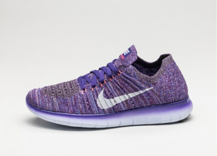 Мужские кроссовки Nike Wmns Free RN Flyknit (Grand Purple / White - Bright Mango - Plum Fog) | Интернет-магазин Sole