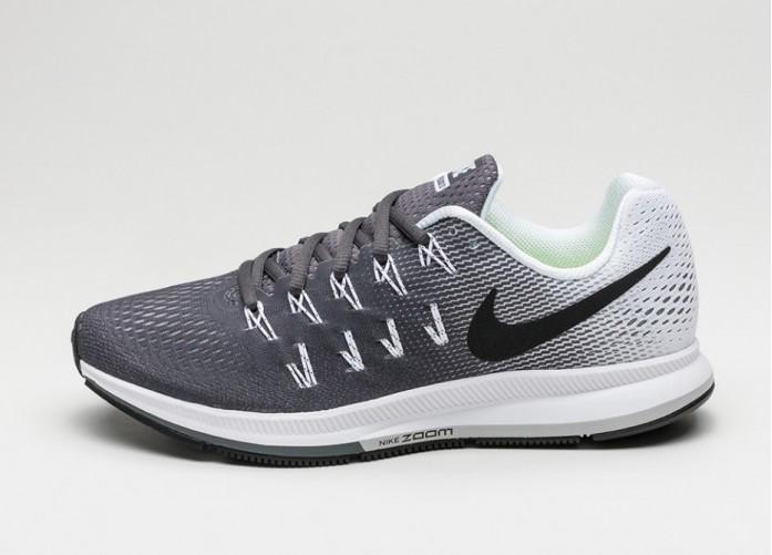 Мужские кроссовки Nike Air Zoom Pegasus 33 (Dark Grey / Black - White) | Интернет-магазин Sole