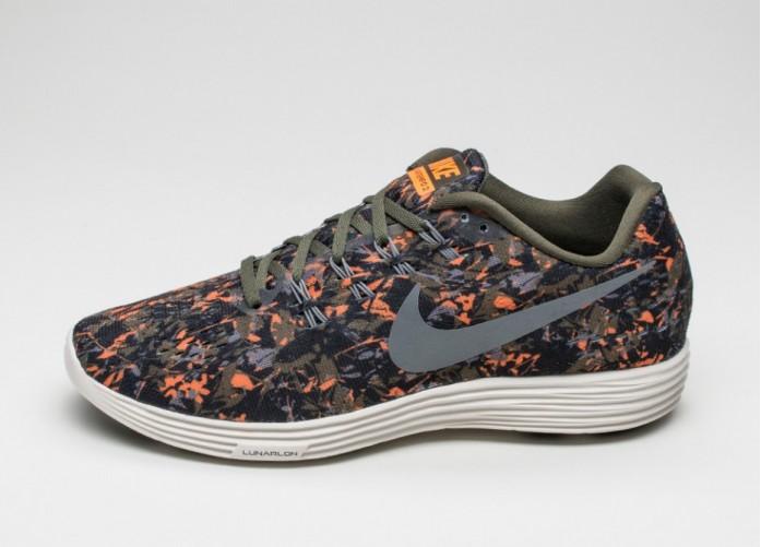 Мужские кроссовки Nike Lunartempo 2 Print (Cargo Khaki / Cool Grey - Total Orange - Black)   Интернет-магазин Sole