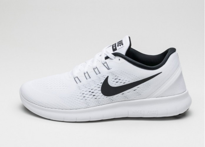 Мужские кроссовки Nike Free RN (White / Black) | Интернет-магазин Sole