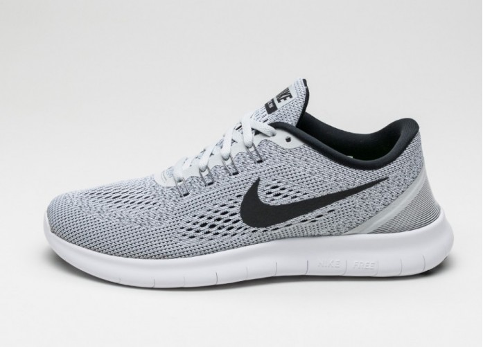 Мужские кроссовки Nike Free RN (White / Black - Pure Platinum) | Интернет-магазин Sole
