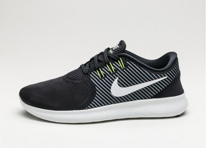 Мужские кроссовки Nike Free RN CMTR (Black / Off White - Dark Grey - Volt) | Интернет-магазин Sole