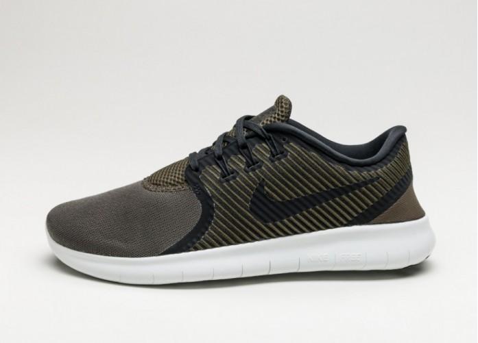 Мужские кроссовки Nike Free RN CMTR (Cargo Khaki / Black - Off White) | Интернет-магазин Sole