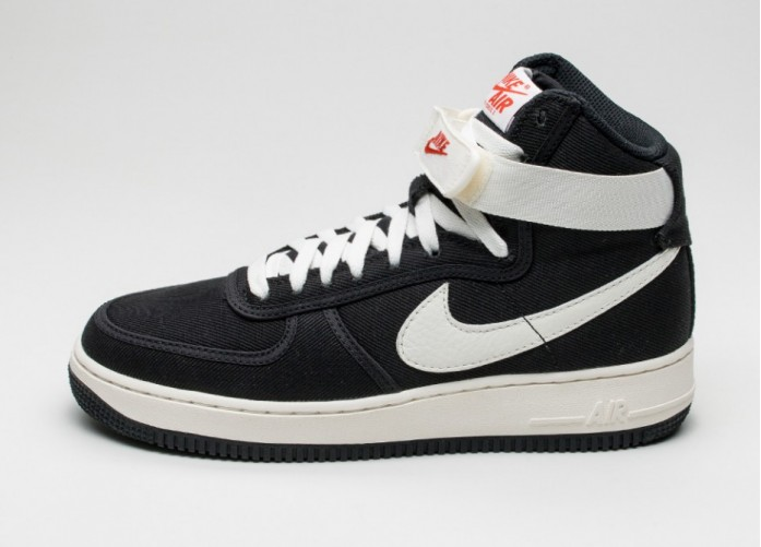Мужские кроссовки Nike Air Force 1 Hi Retro (Black / Sail) | Интернет-магазин Sole