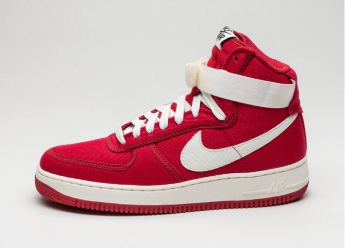 Мужские кроссовки Nike Air Force 1 Hi Retro (Gym Red / Sail - Black) | Интернет-магазин Sole