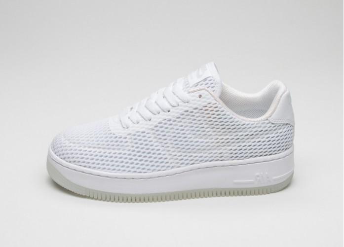Мужские кроссовки Nike Wmns Air Force 1 Low Upstep BR (White / White) | Интернет-магазин Sole