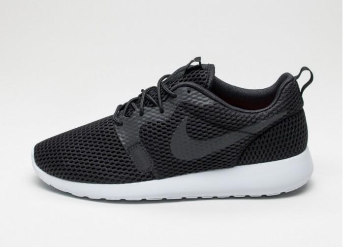 Мужские кроссовки Nike Roshe One Hyp BR (Black / Black - White) | Интернет-магазин Sole