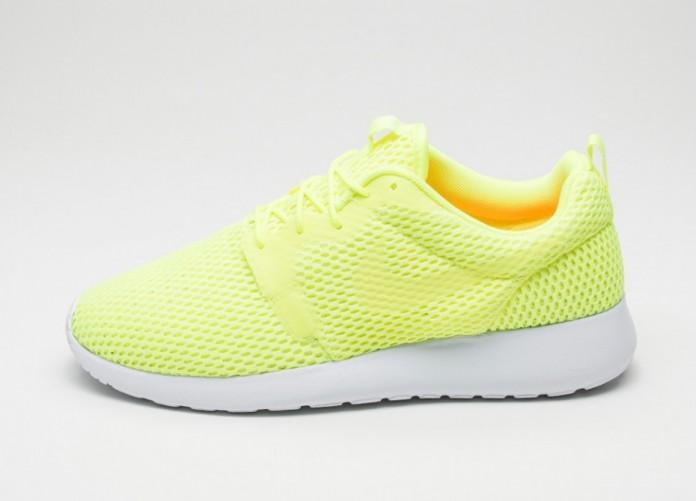 Мужские кроссовки Nike Roshe One Hyp BR (Volt / Volt - White) | Интернет-магазин Sole