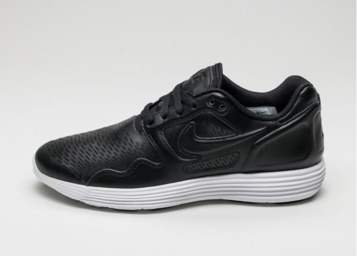 Мужские кроссовки Nike Lunar Flow LSR PRM (Black / Black - White) | Интернет-магазин Sole