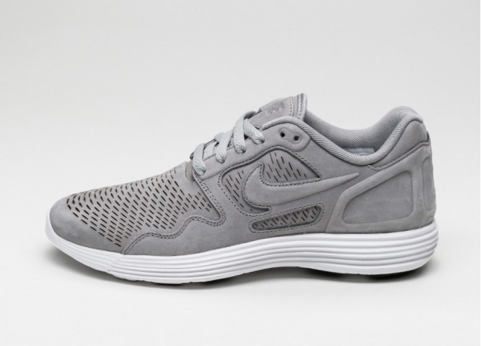 Мужские кроссовки Nike Lunar Flow LSR PRM (Medium Grey / Medium Grey - White) | Интернет-магазин Sole