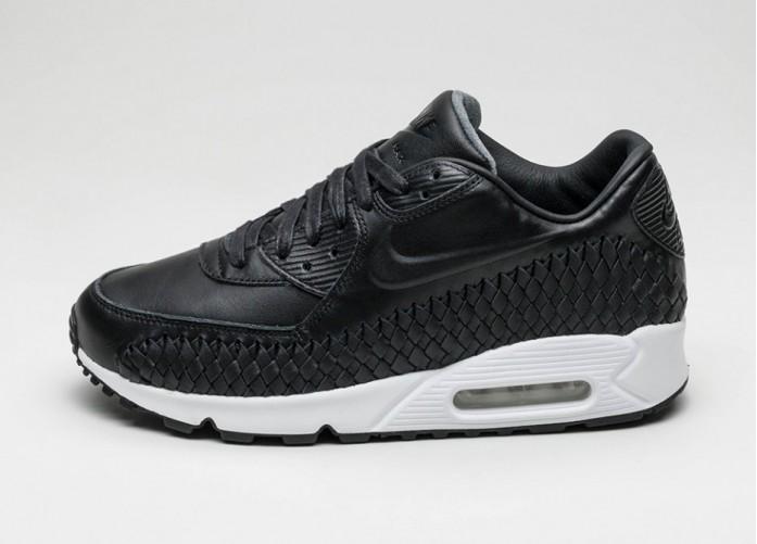 Мужские кроссовки Nike Air Max 90 Woven (Black / Black - White) | Интернет-магазин Sole